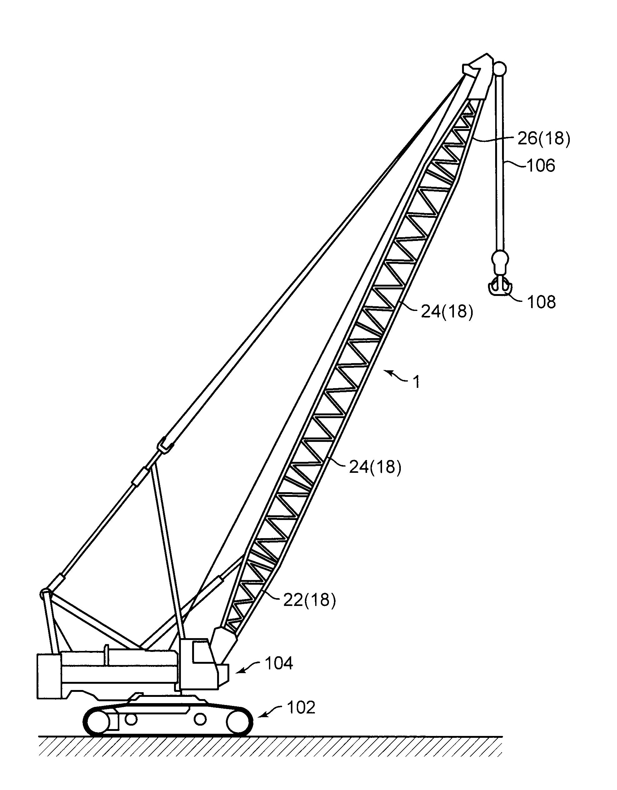 crane boom diagram