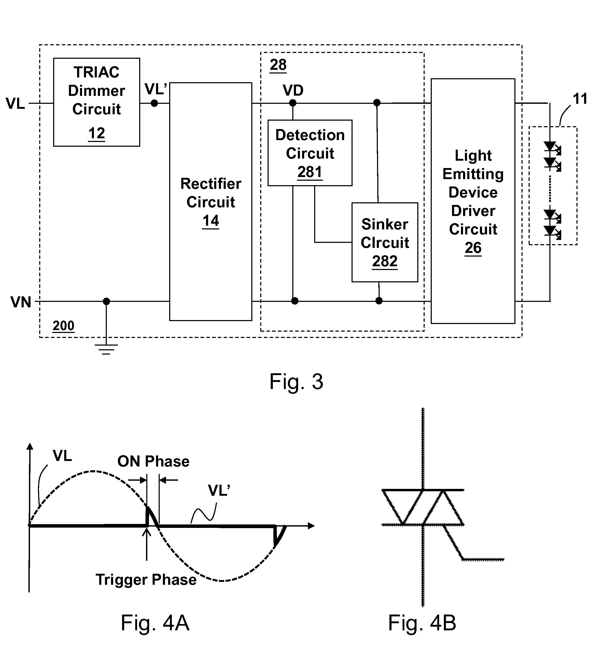 triac light dimmer active reset schematic