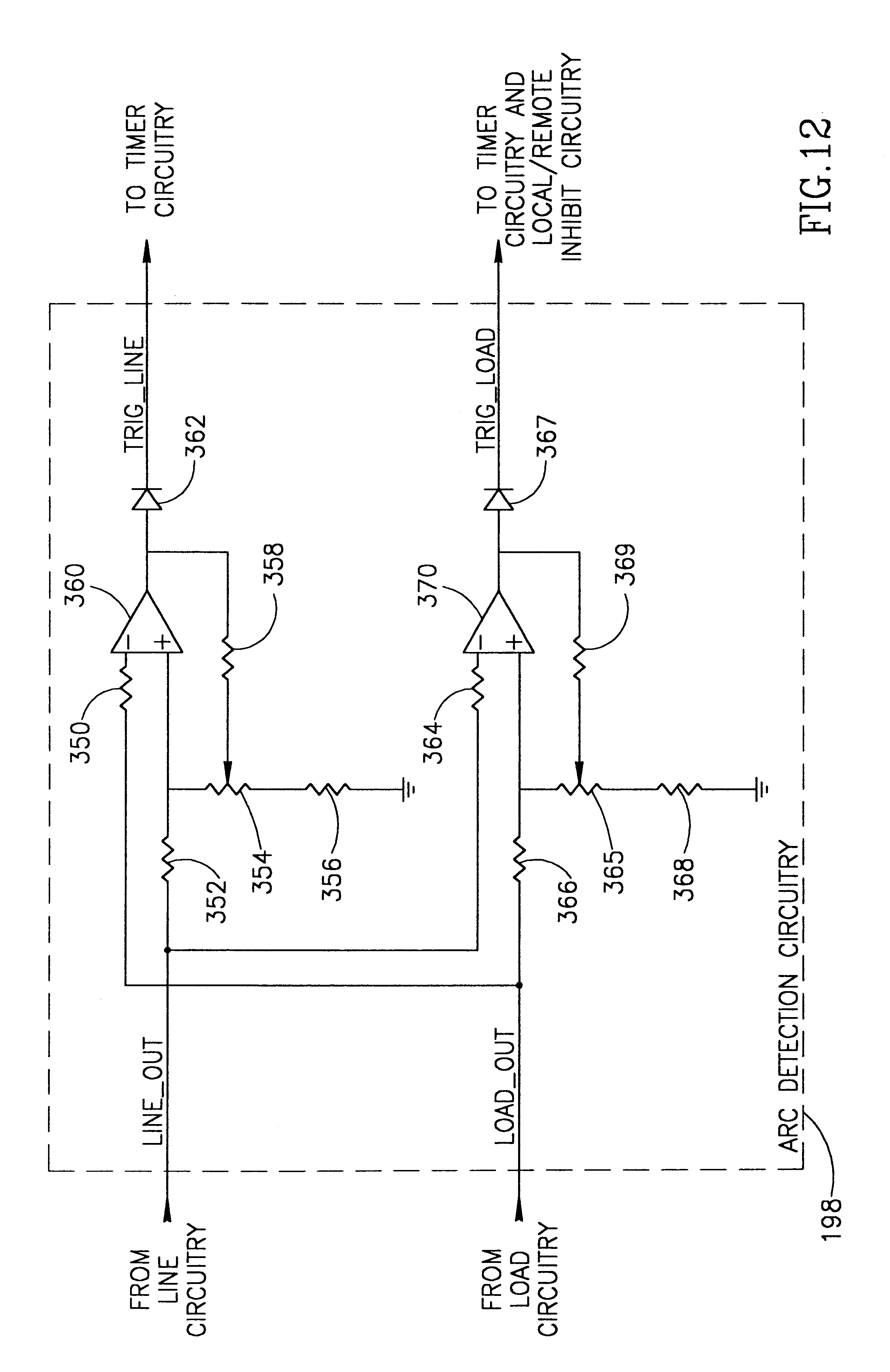 patent us6339525 arc fault detector with circuit interrupter