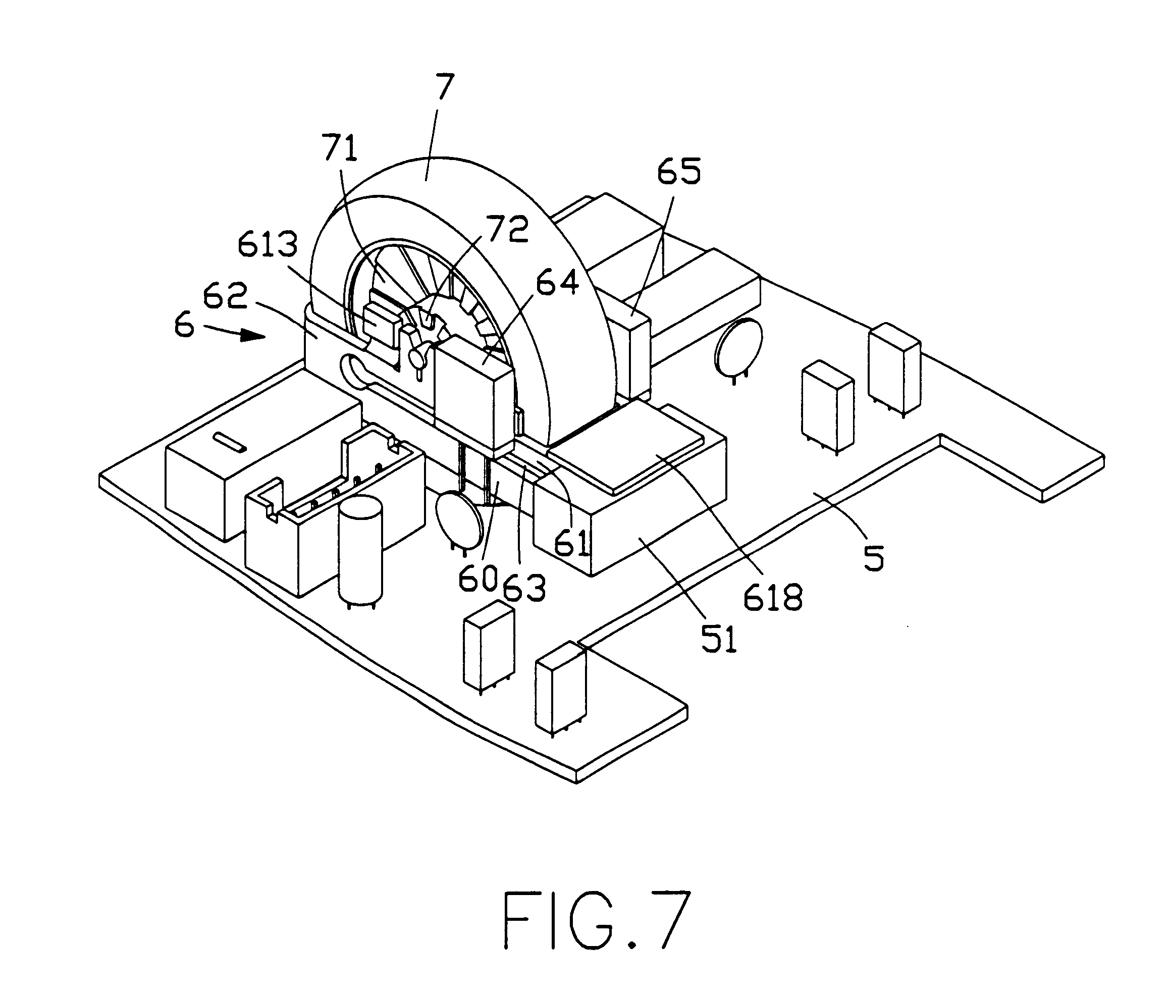 circuit board of the optical mouse