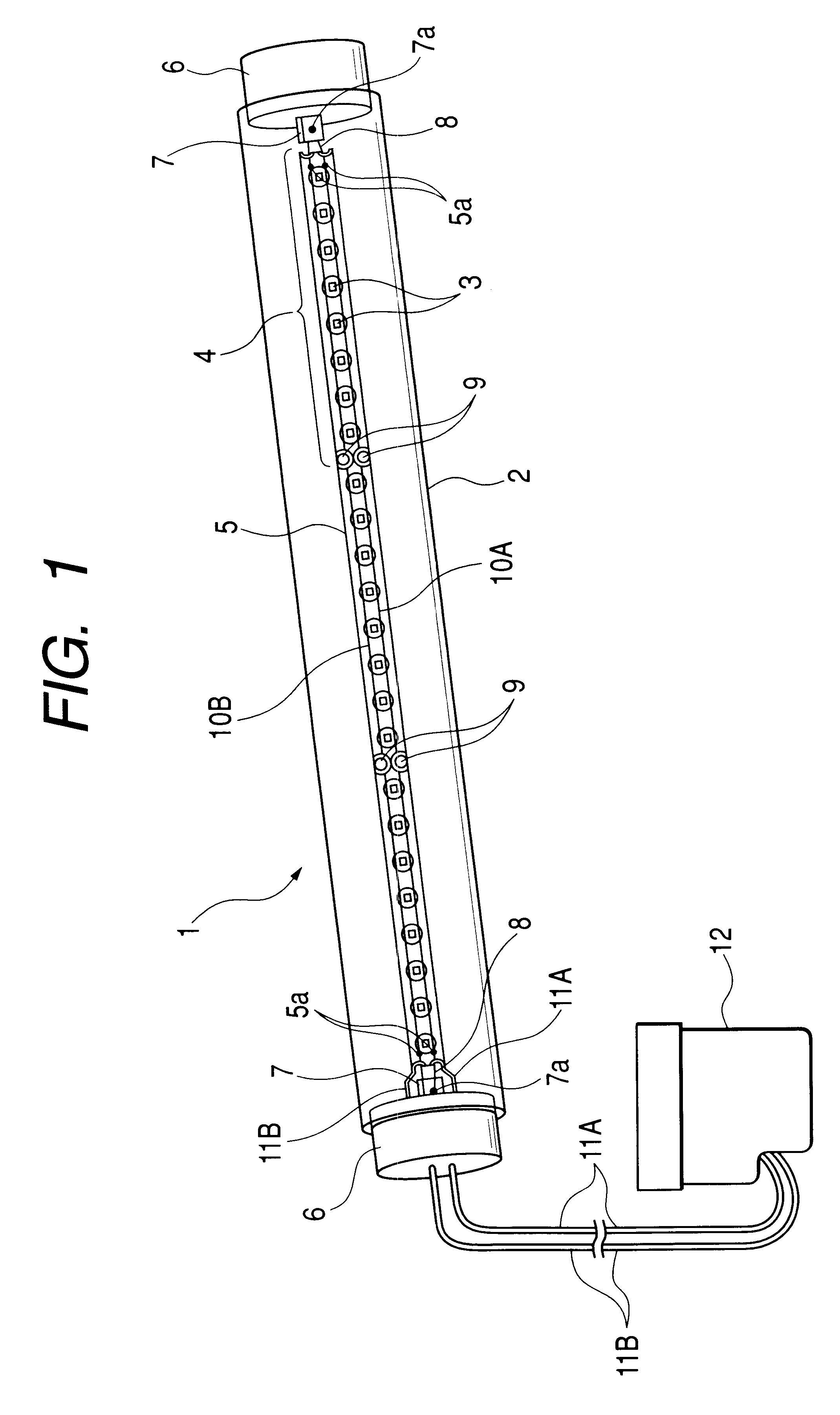 Fluorescent Tube Drawing Patent Us6583550 Fluorescent Tube With Light Emitting