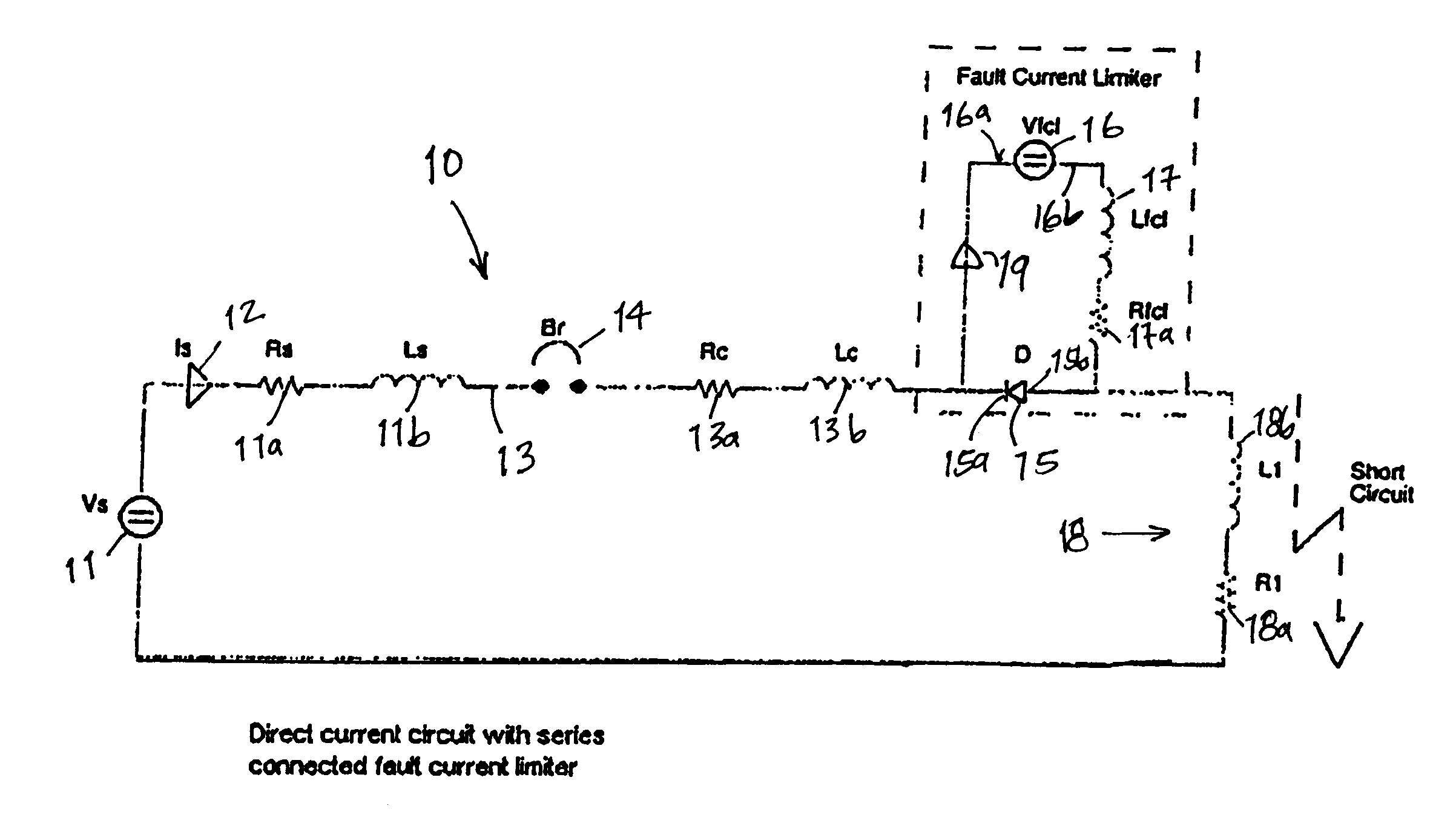 adjustable direct current and pulsed circuit fault current limiter
