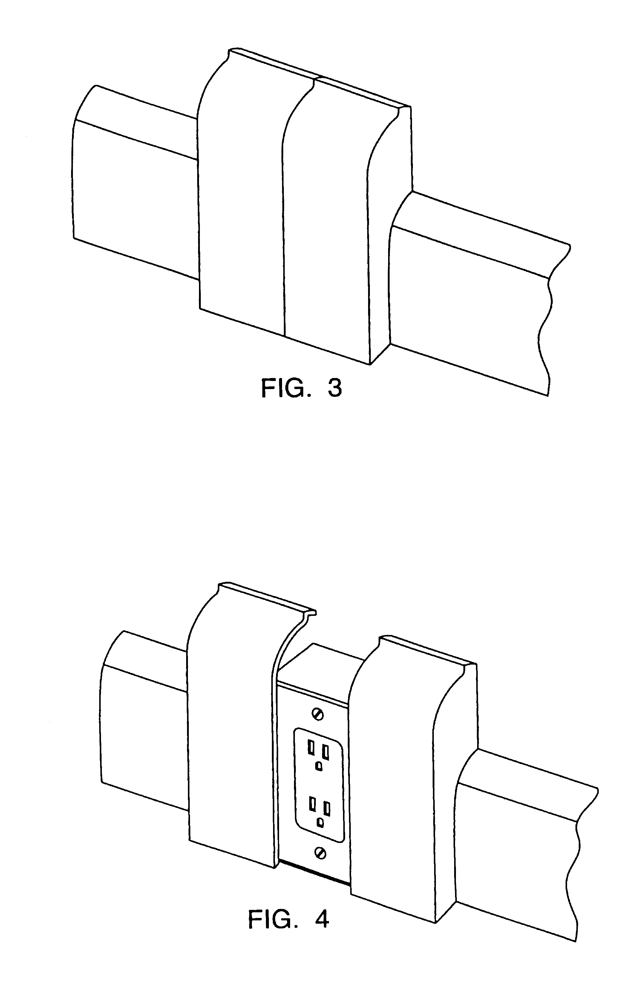 surface mounted raceway wire molding