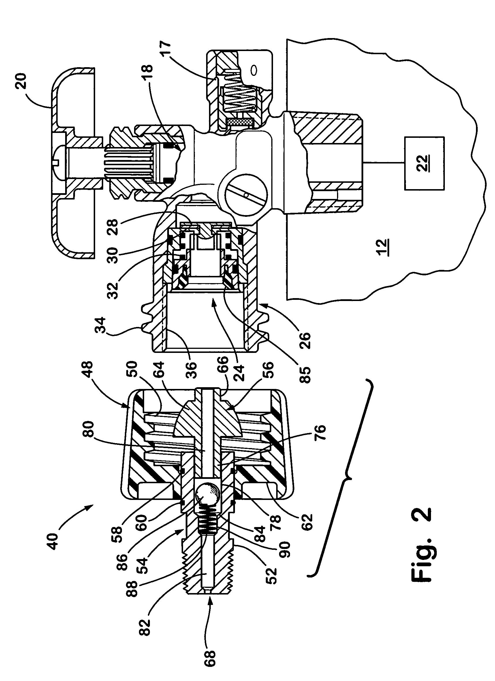 propane tank valve schematic