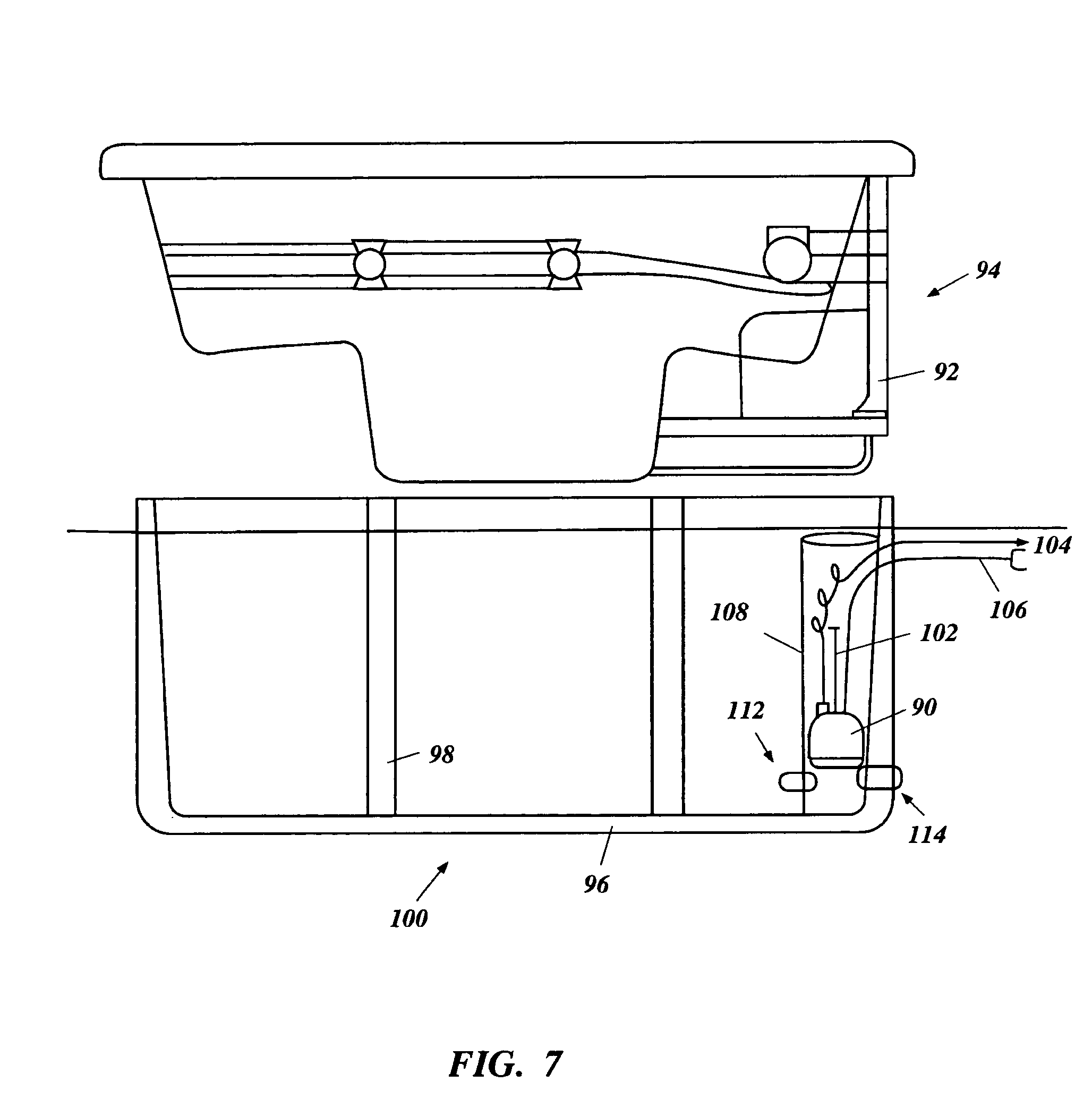 Jacuzzi Pool Dimensions Patent Us7020910 Portable Spa Google Patents