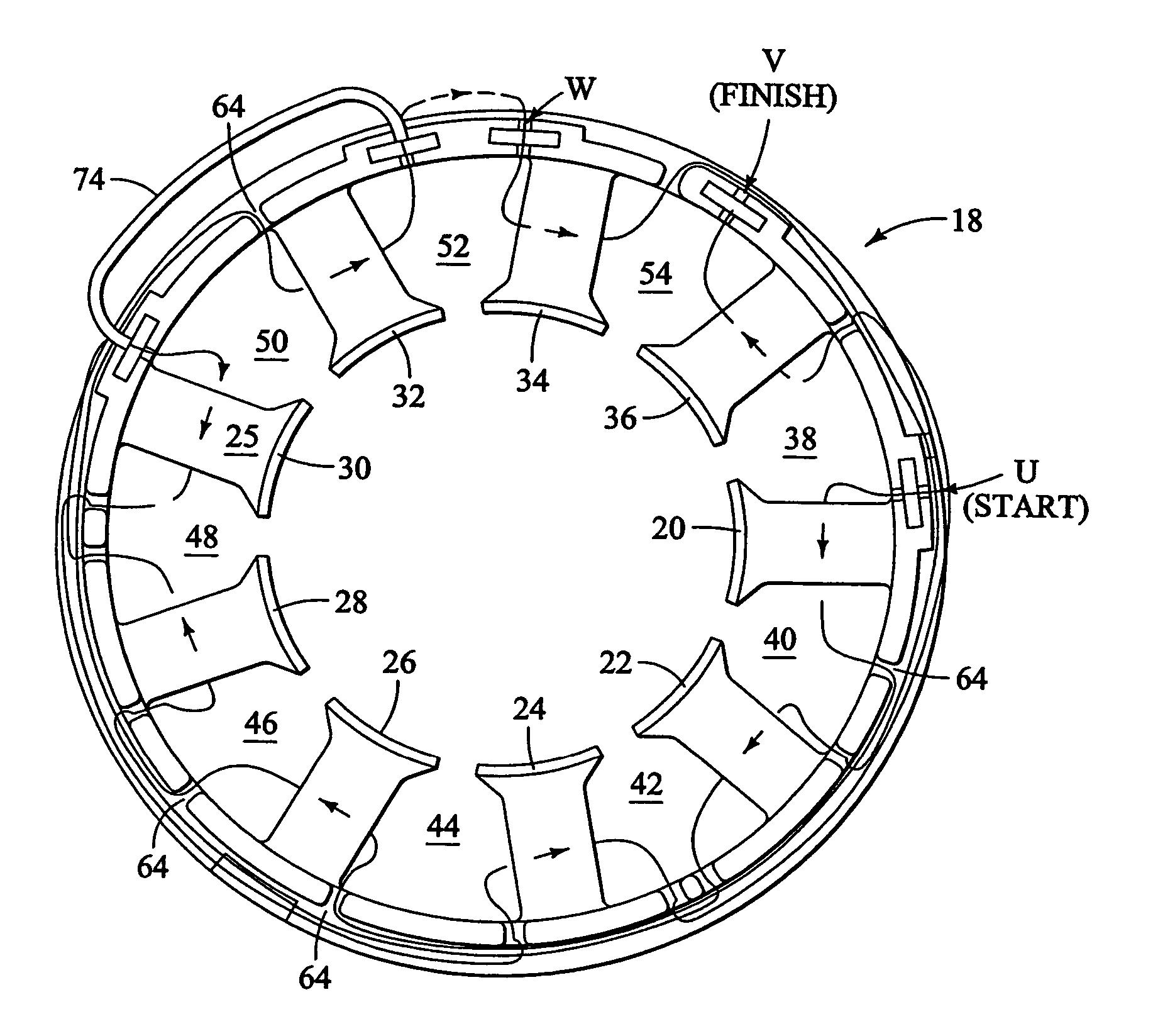 diagram of wiring 3 phase motor windings