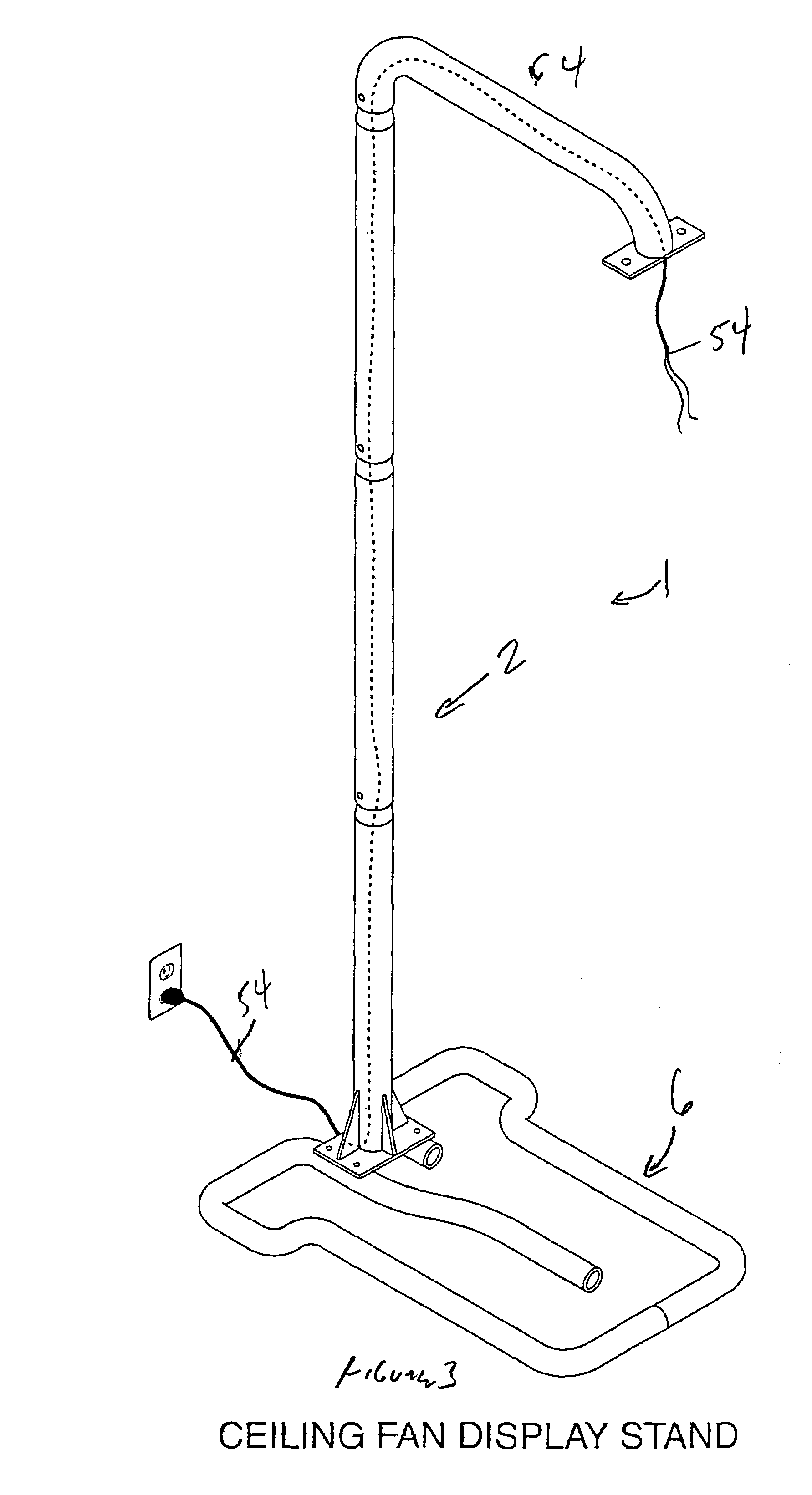 Ceiling Fan Stand Patent Us7374138 Ceiling Fan Display Google Patents