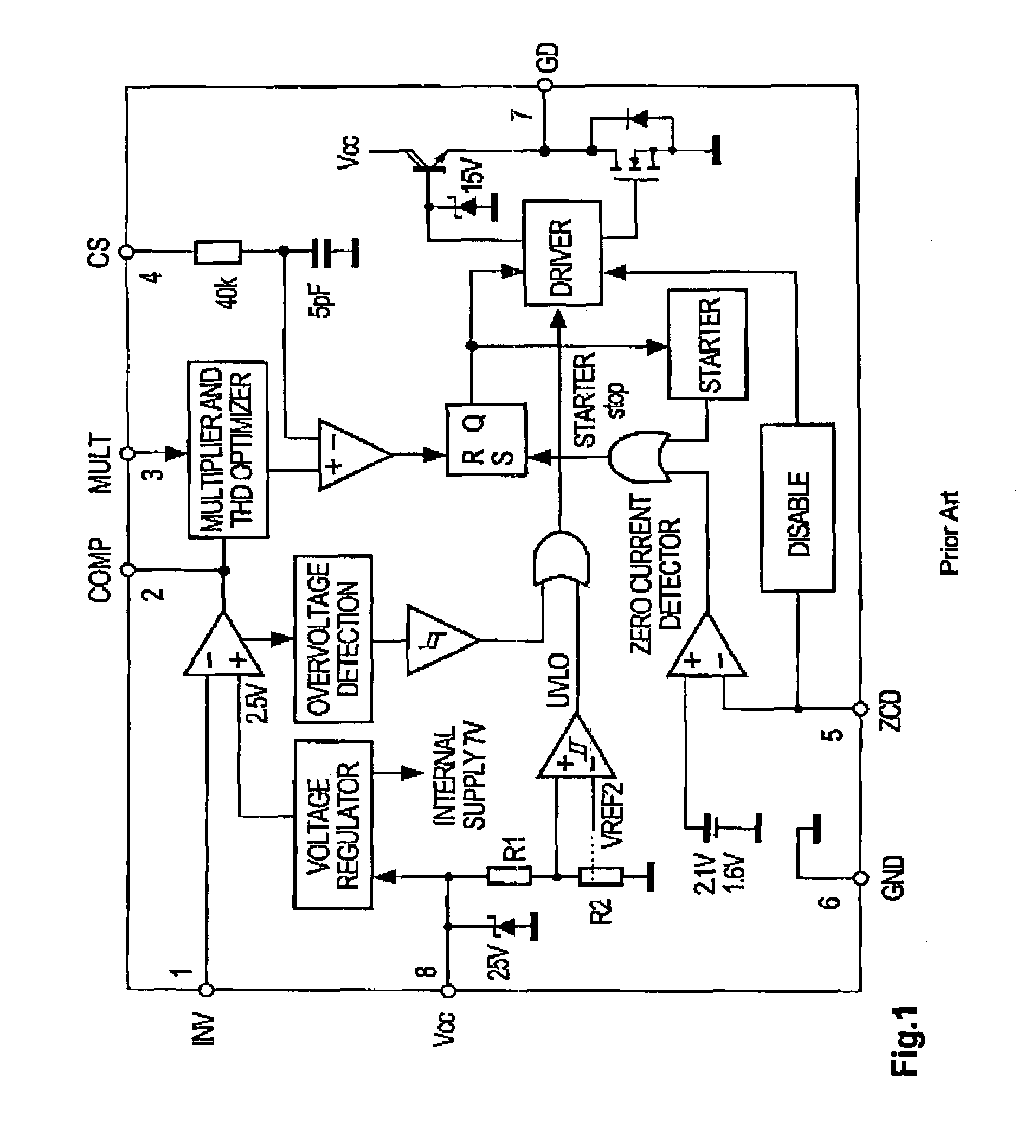 switching mode power supply protect circuit