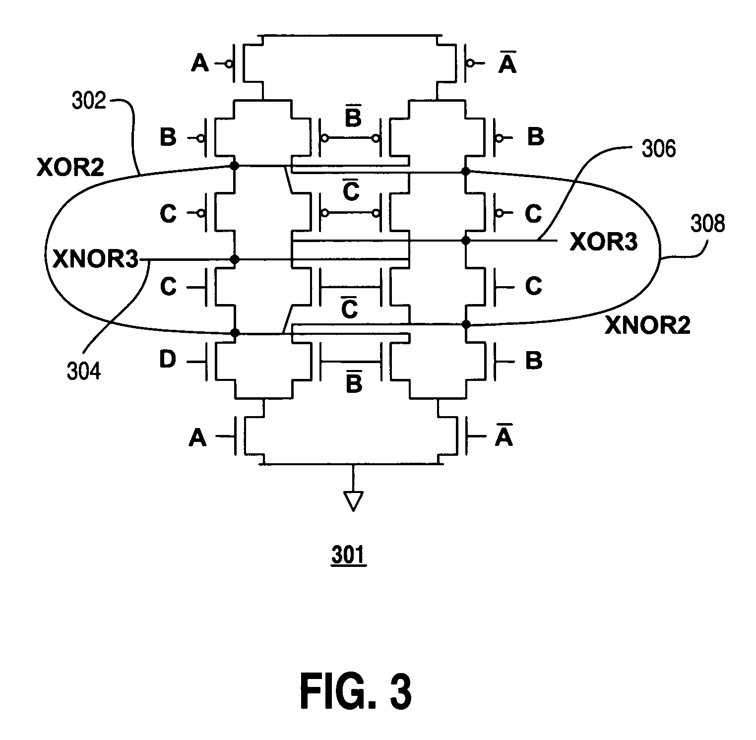cmos logic circuit for xor gate