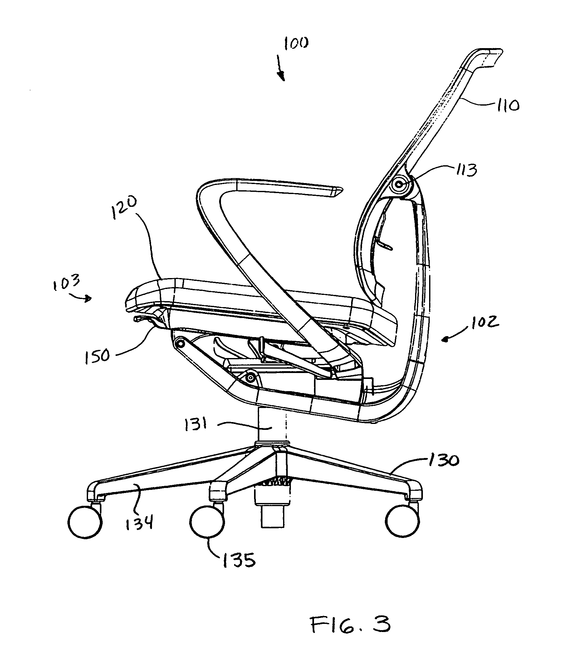 Fischer Haworth Sessel Patent Us7837265 Reclining Chair With Enhanced Adjustability