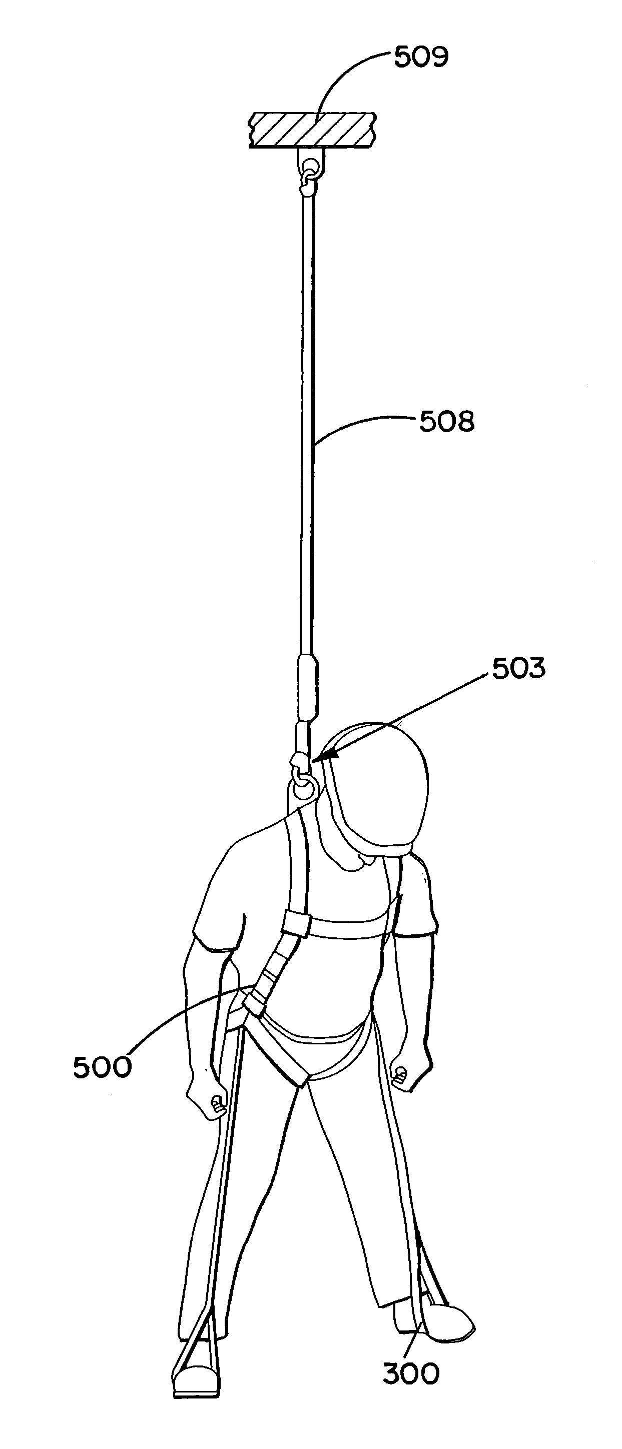 harness suspension relief strap