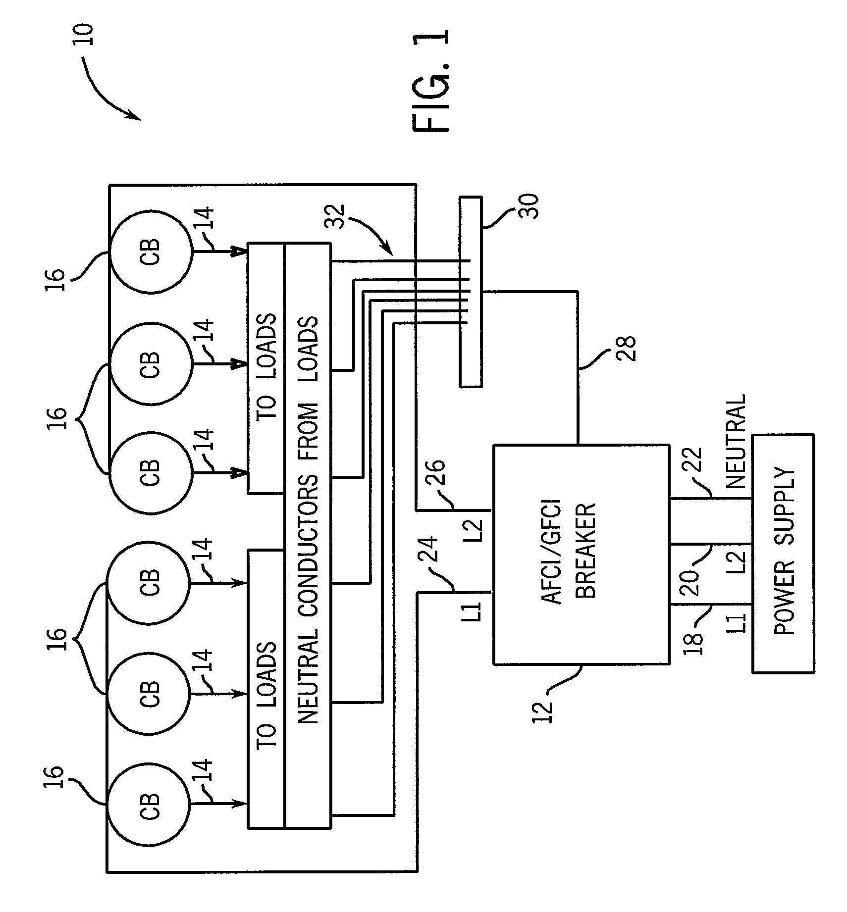 afci breaker providing protection for multiple branch circuits