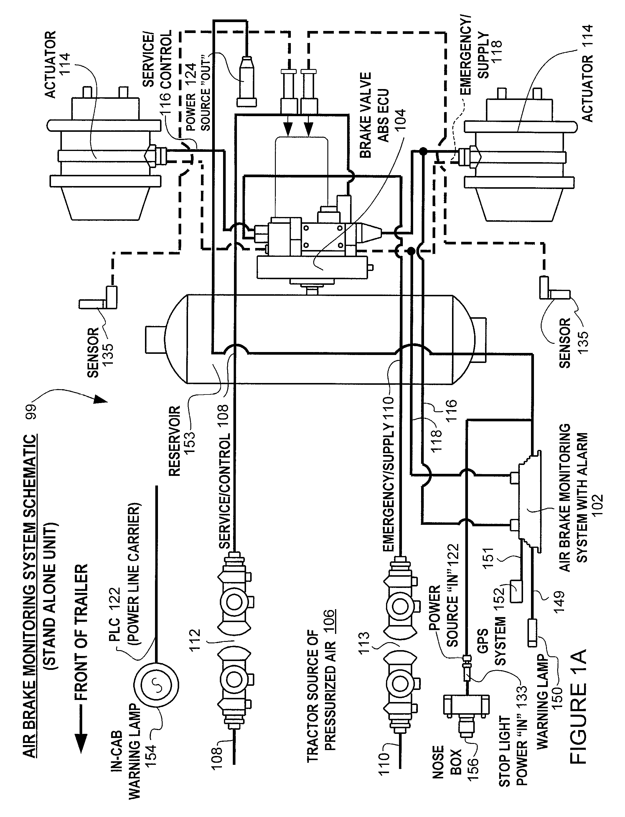 patent us8204668 brake monitoring system
