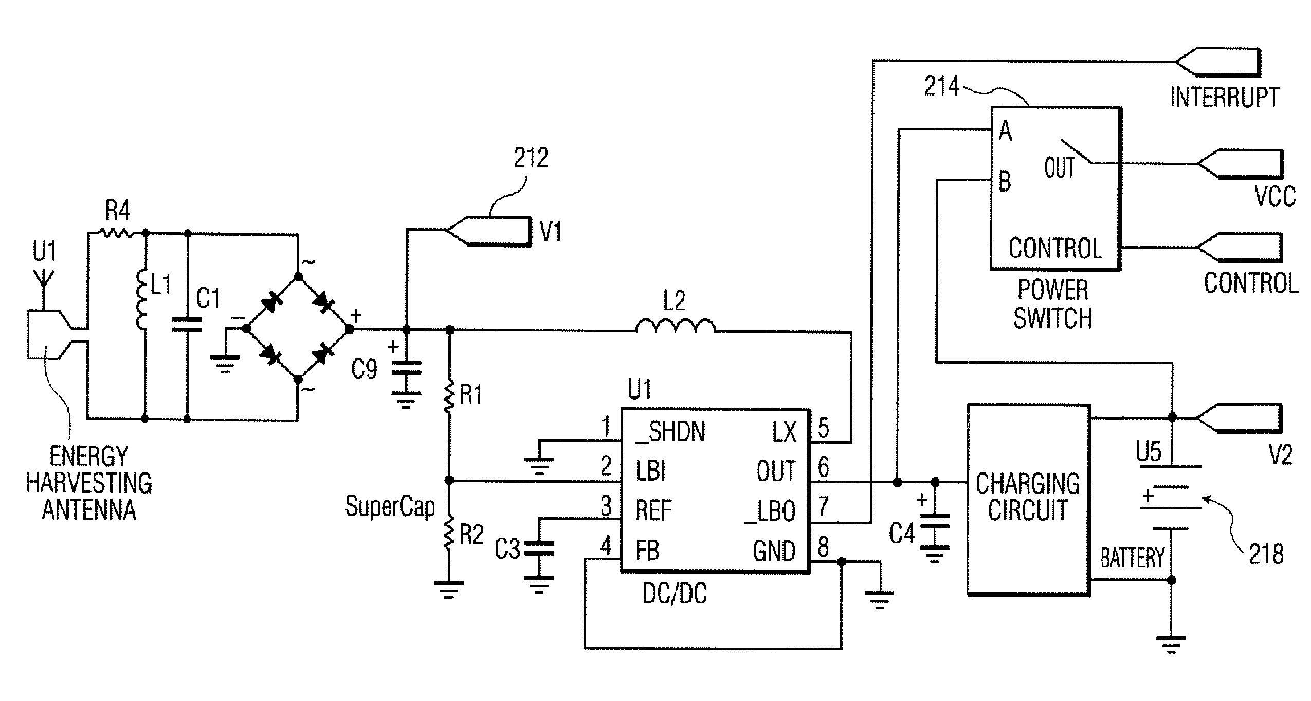 claims 8 1 an energy harvesting circuit comprising a plurality of
