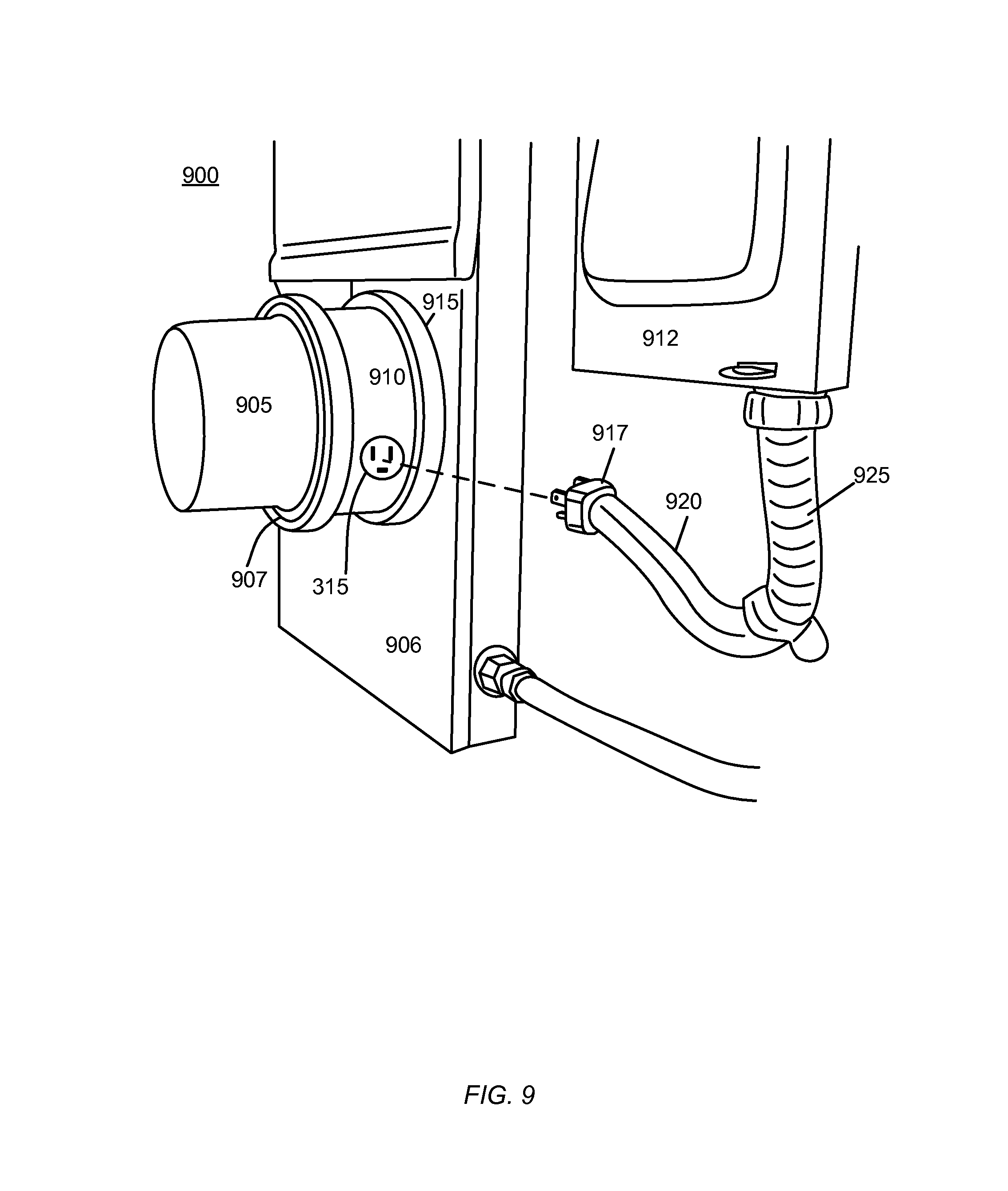 meter adaptor with symmetrical input