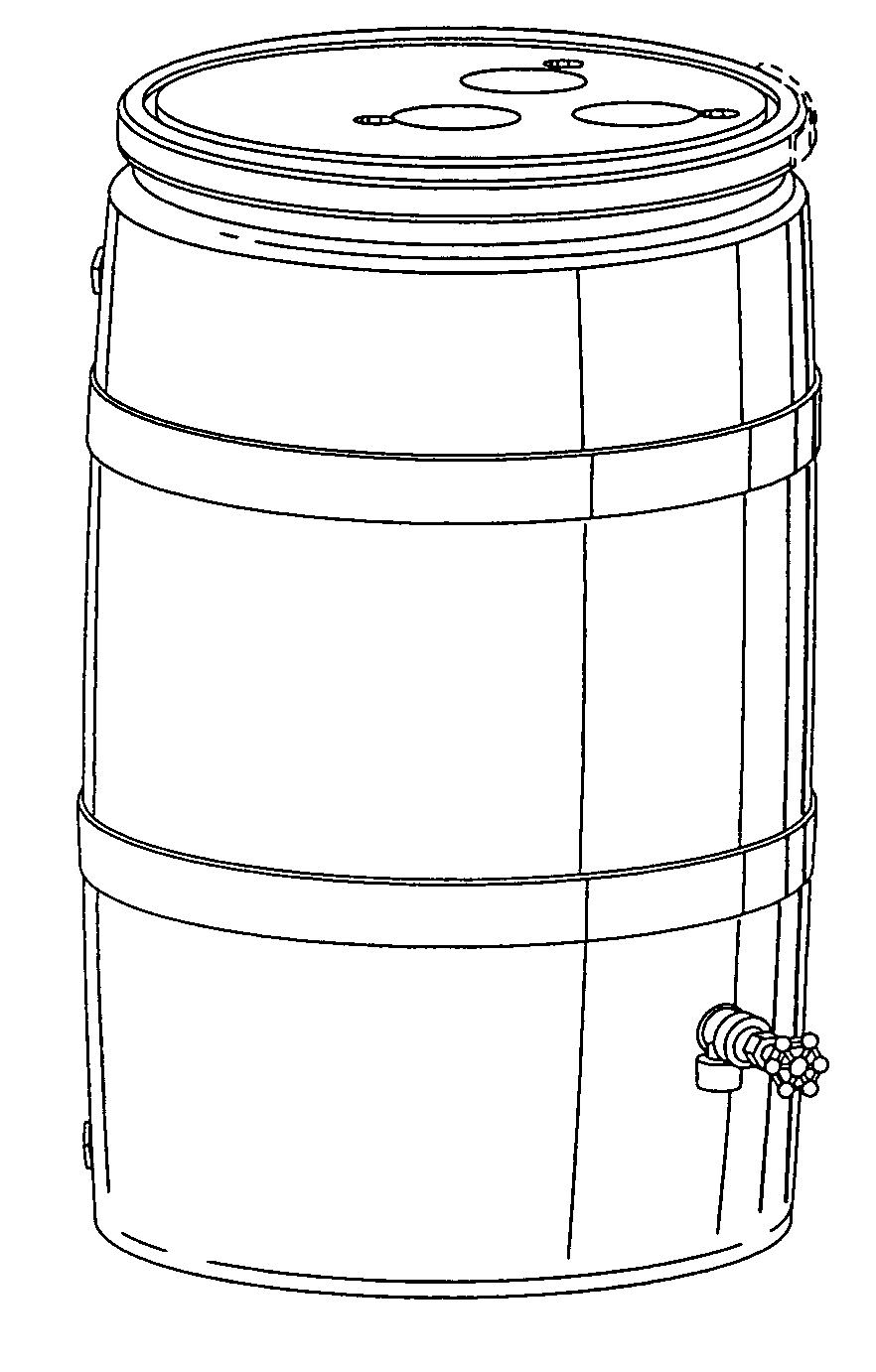 side view perspective drawing