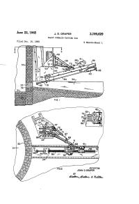 Patent US3190629 - Draper blast furnace tapping rig ...