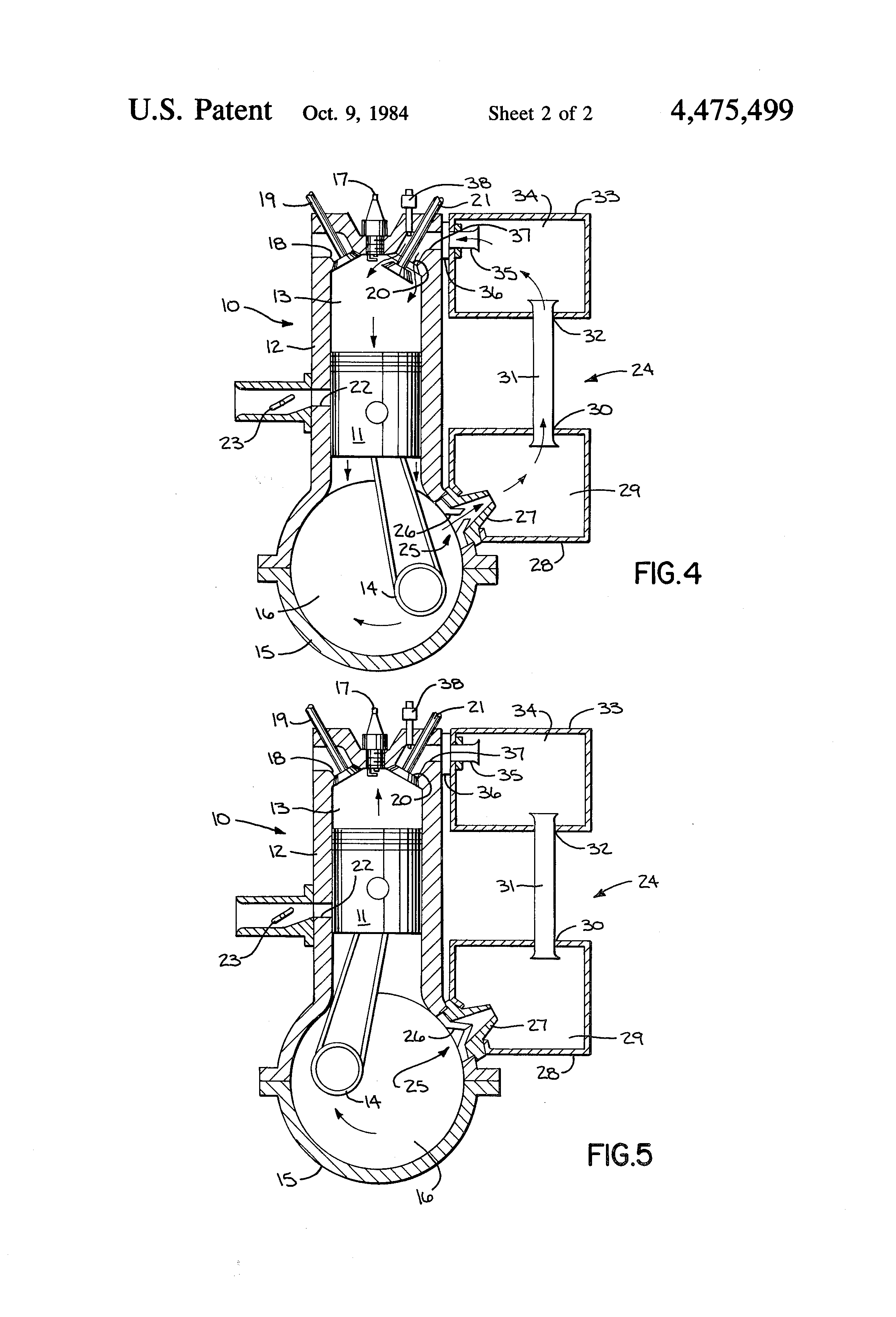 exhaust valved 2 stroke engine