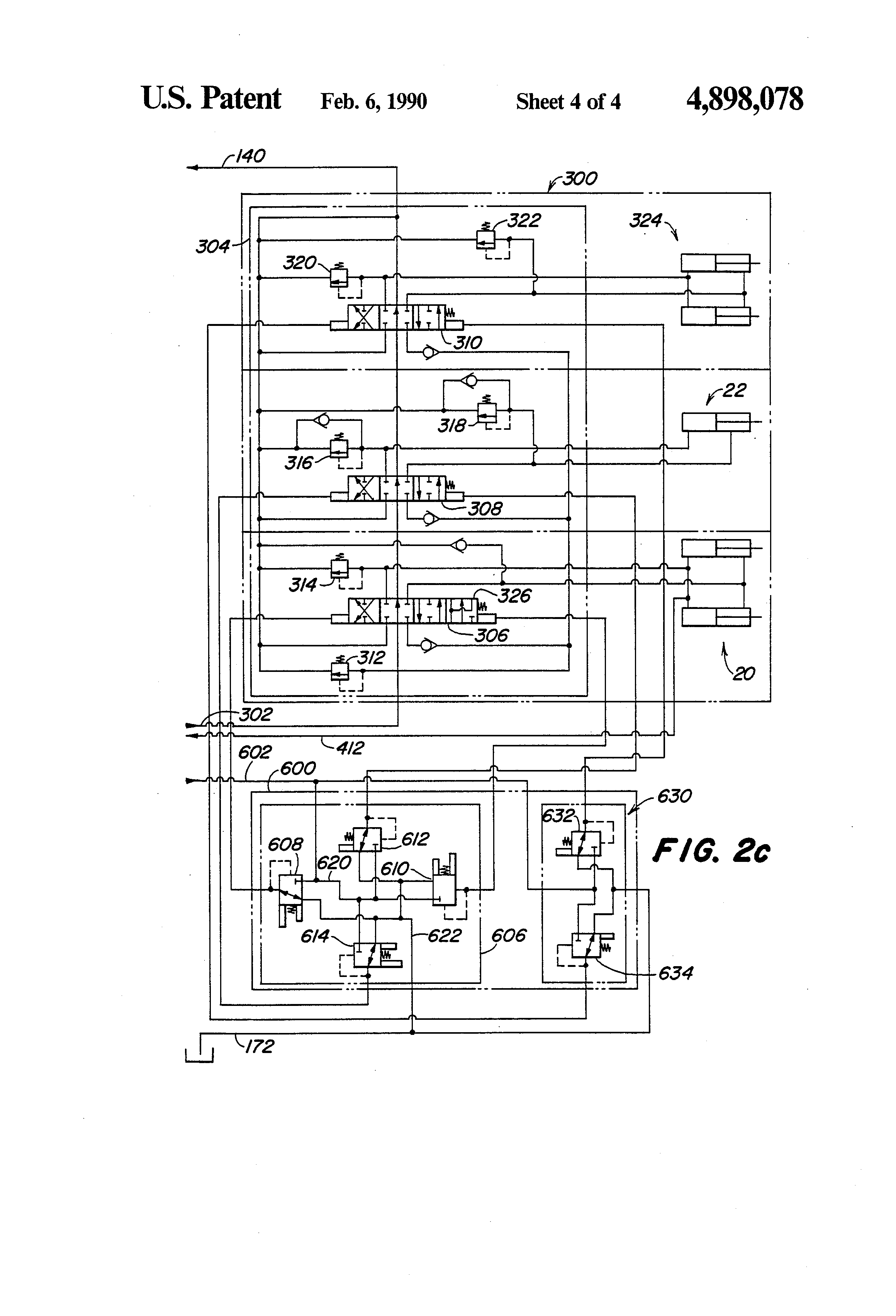For A Jd 410b Wiring Diagram Patent Us4898078 Hydraulic System For A Work Vehicle