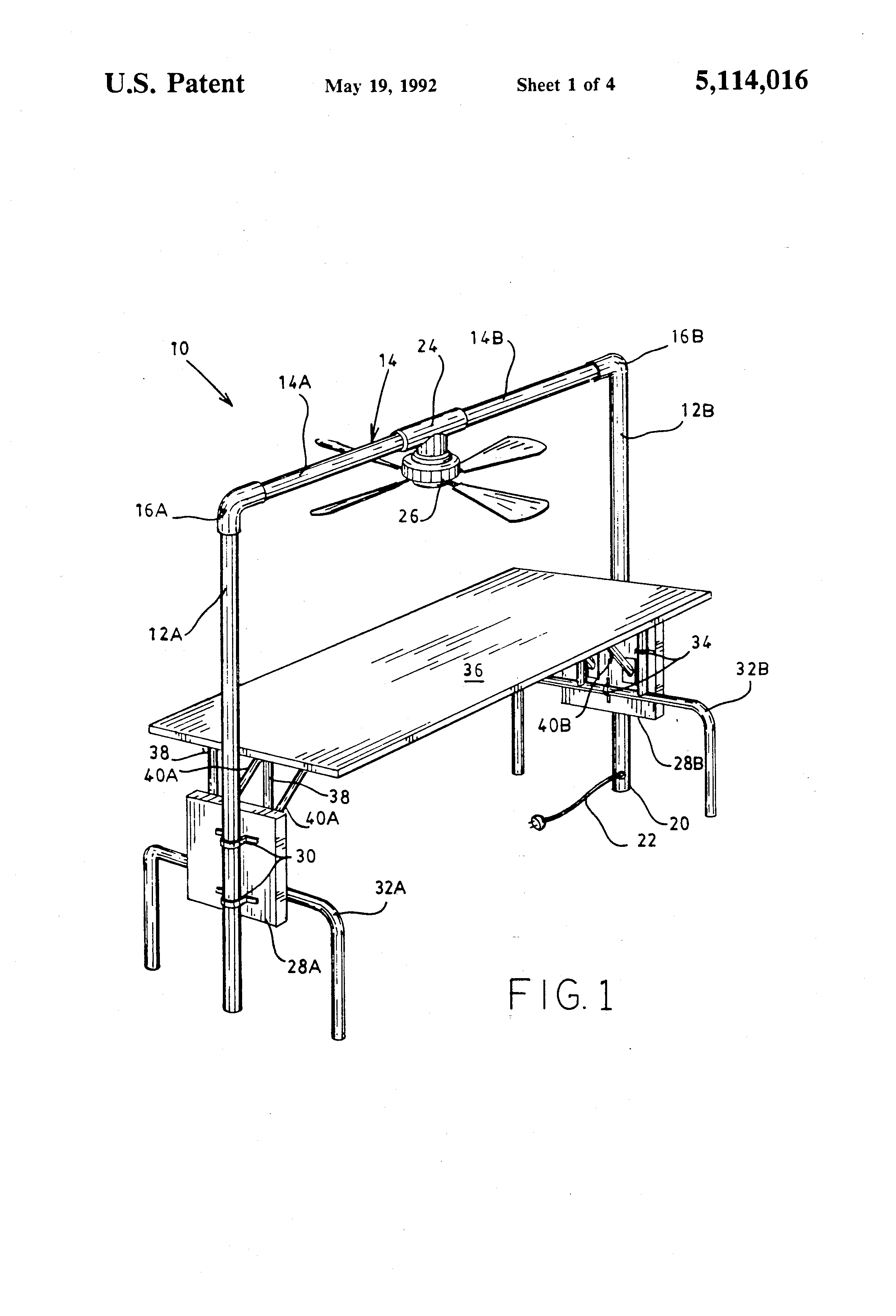 Ceiling Fan Stand Patent Us5114016 Ceiling Fan Display Stand Google Patents