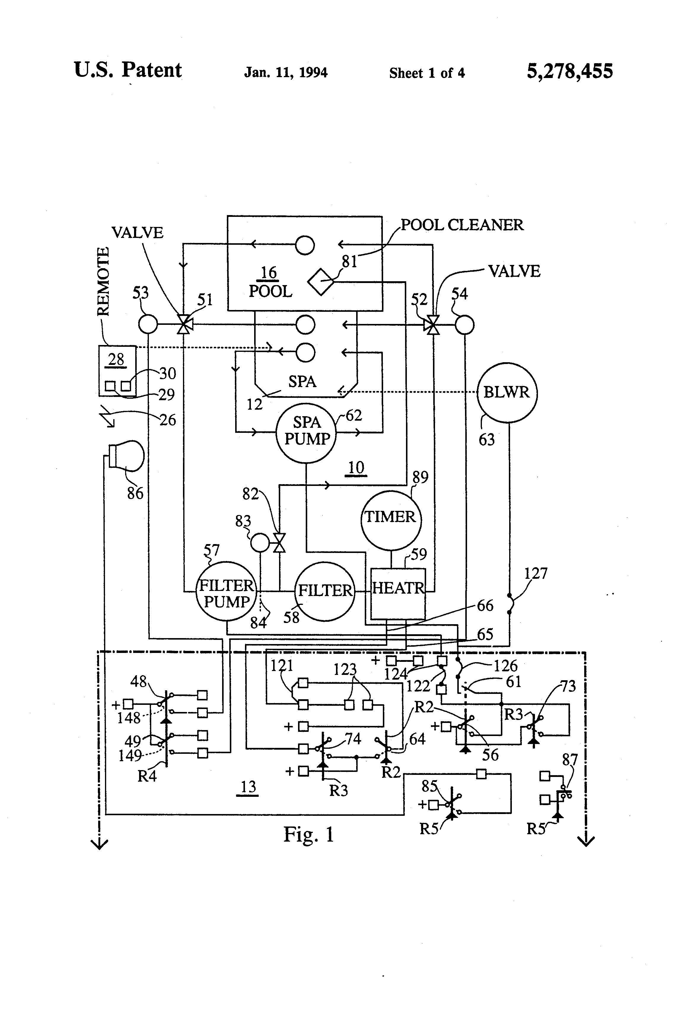 jandy 4 button spa side remote wiring diagram