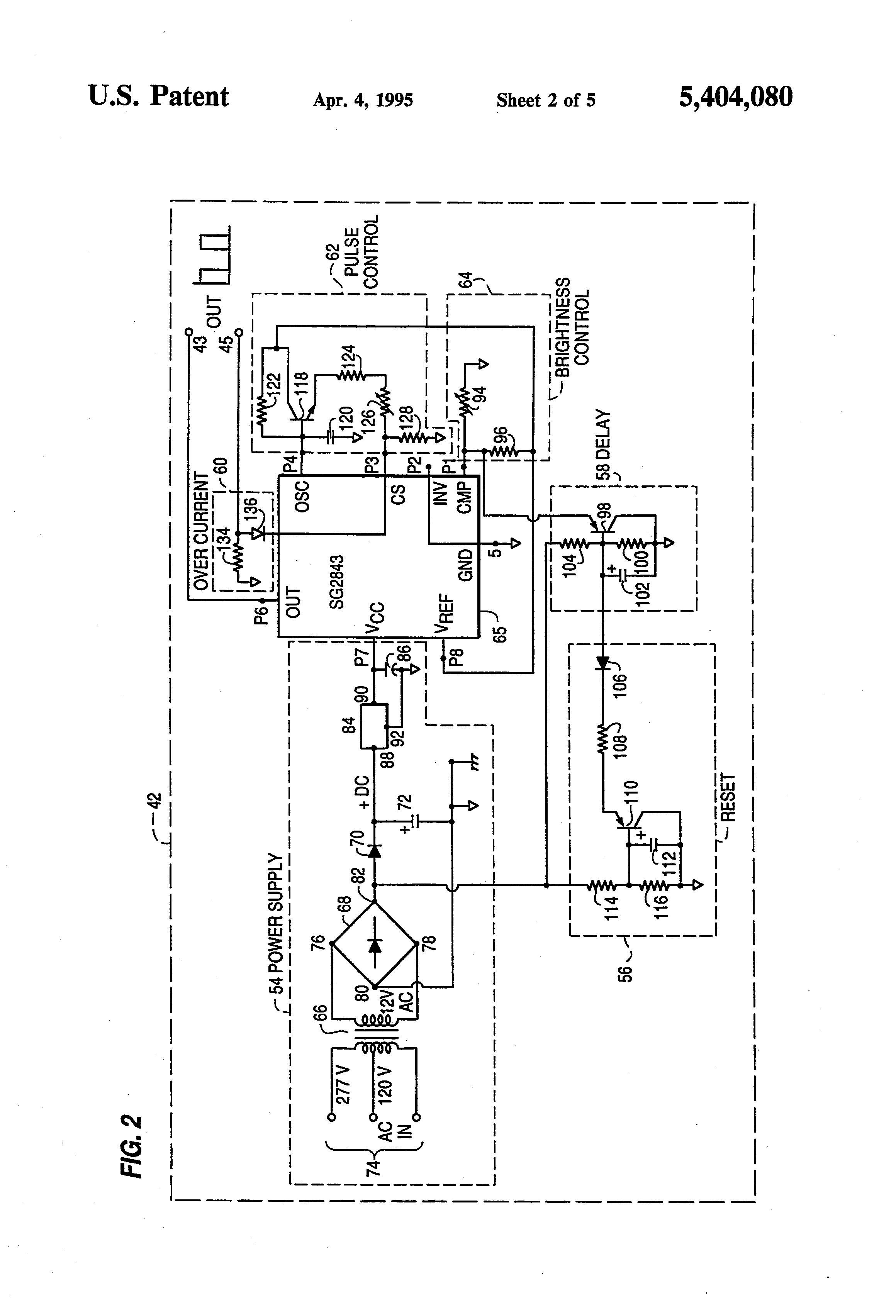 brightness control for small lamps circuit