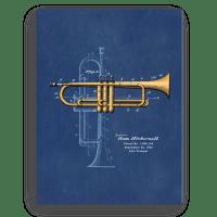 Trumpet Solo Patent Wall Art Canvas  PatentWear