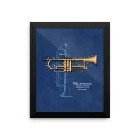 Trumpet Solo Patent Wall Art 2 Framed  PatentWear