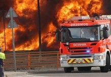 Una unidad de bomberos en un incendio en Fuente del Jarro