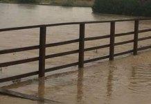 Estado de la Zona del apeadero de Santa Rita tras las lluvias