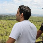 El alcalde de Paterna, Juan Antonio Sagredo, en la torre de vigilancia de La Vallesa