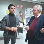 Sagredo y Fernández durante su visita a Novaterra