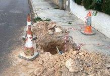 Imagen de uno de los socavones que pueden encontrarse en Montecañada