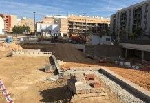 Imagen actual de las obras que se están realizando en la Villa Romana