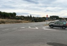 Imagen de la salida e incorporación en la calle 238 de La Canyada a la carretera Pla del Pou