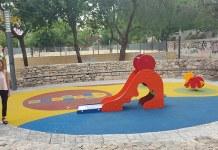 Nuria Campos durante su visita al parque