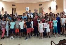 Imagen de la recepción a los niños saharauis