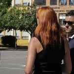 Sagredo y Mora durante su visita al CEIP Vicente Mortes