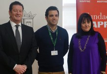 El alcalde, Juan Antonio Sagredo junto a María Antonia Ferrús y Vicente Guarch