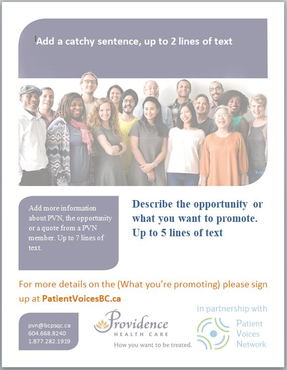 Poster Templates Health Authority-Specific - Patient Voices Network - editable poster templates