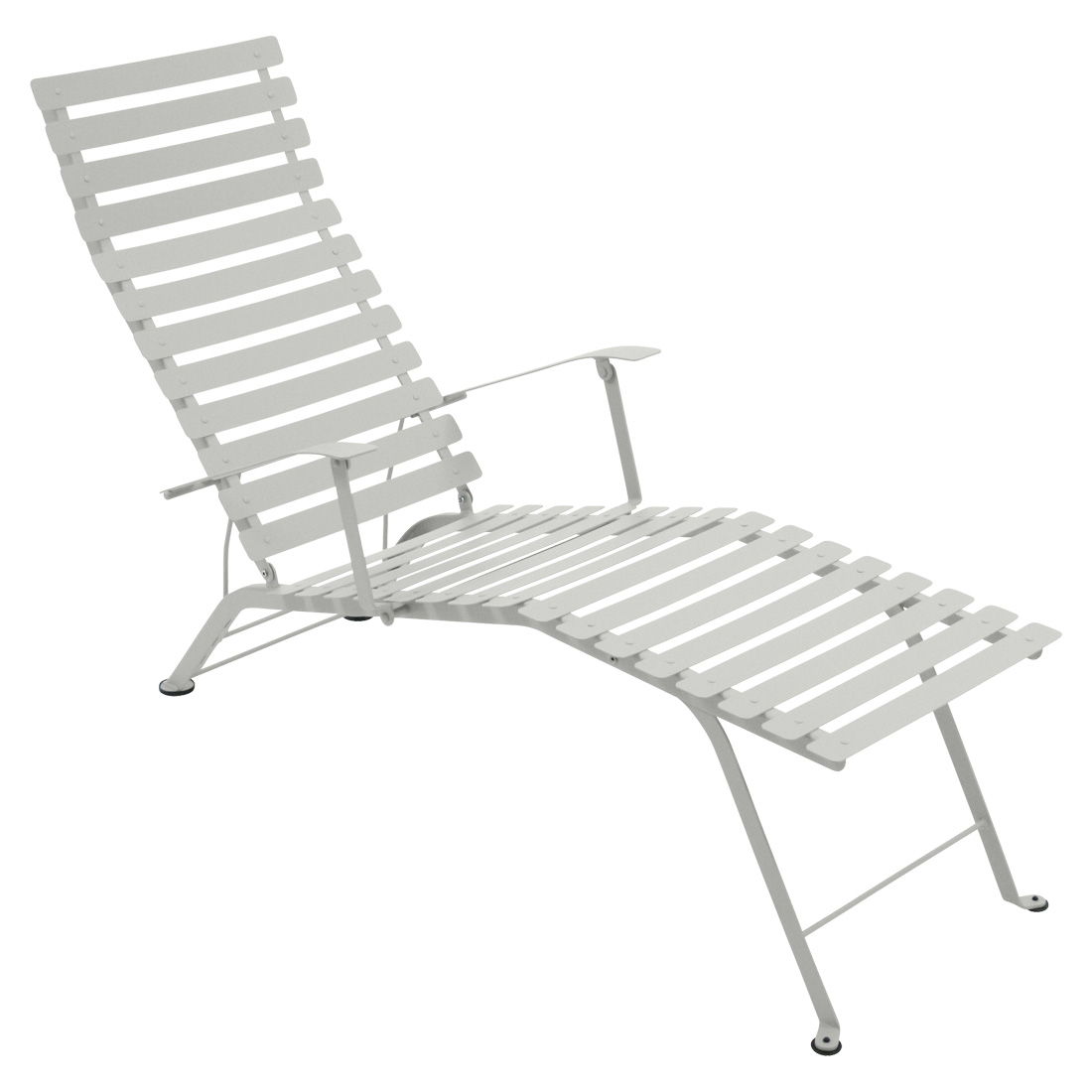 Chaise Metal Bistro Bistro Chaise Lounge Steel Grey Patio Balcony Outdoor