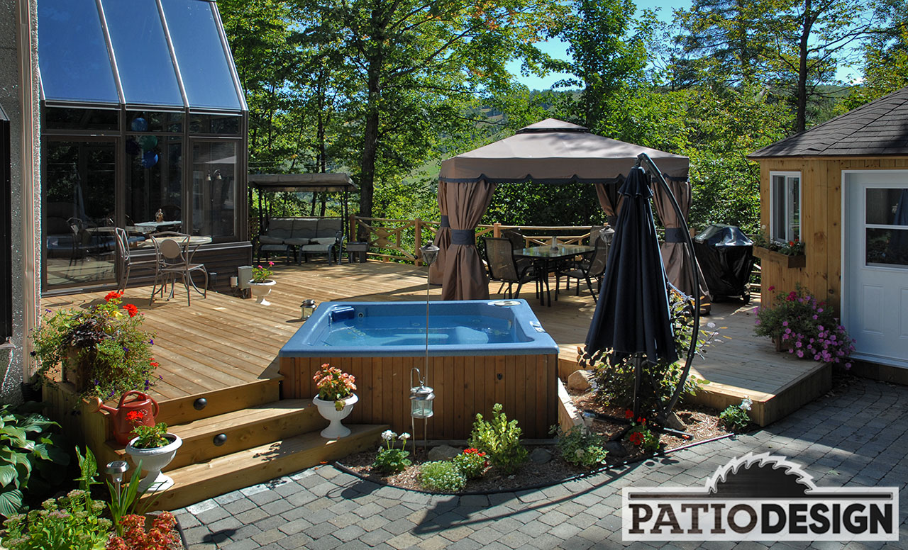 Aménagement De Spa Extérieur Patio Design Construction And Design De Patios Pour Un Spa