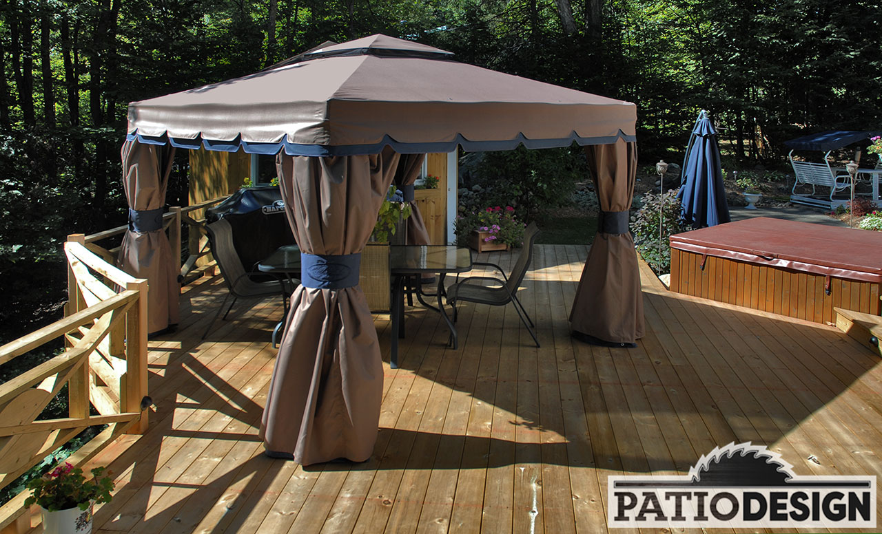 Toit Terrasse Sur Veranda Patio Design - Construction & Design De Patios Pour Un Spa