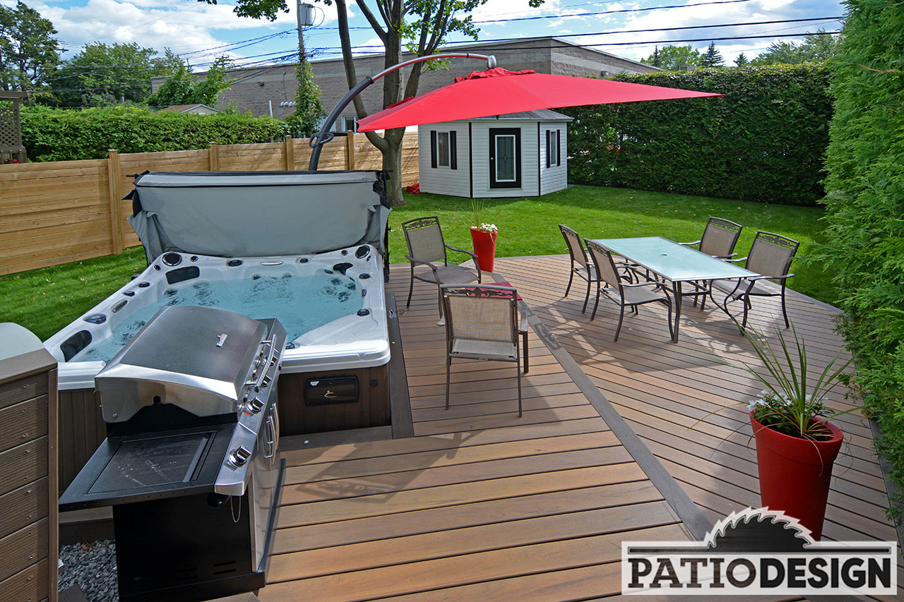 Spa Exterieur Laval Patio Design Construction And Design De Patios Pour Un Spa