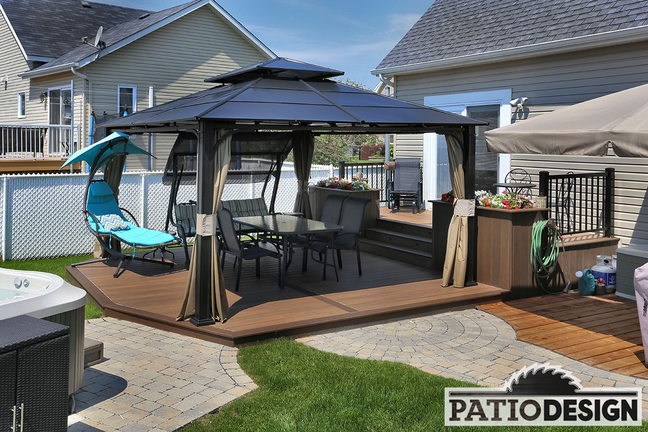 Amenagement Terrasse Avec Spa Patio Design Construction And Design De Patios Pour Un Spa