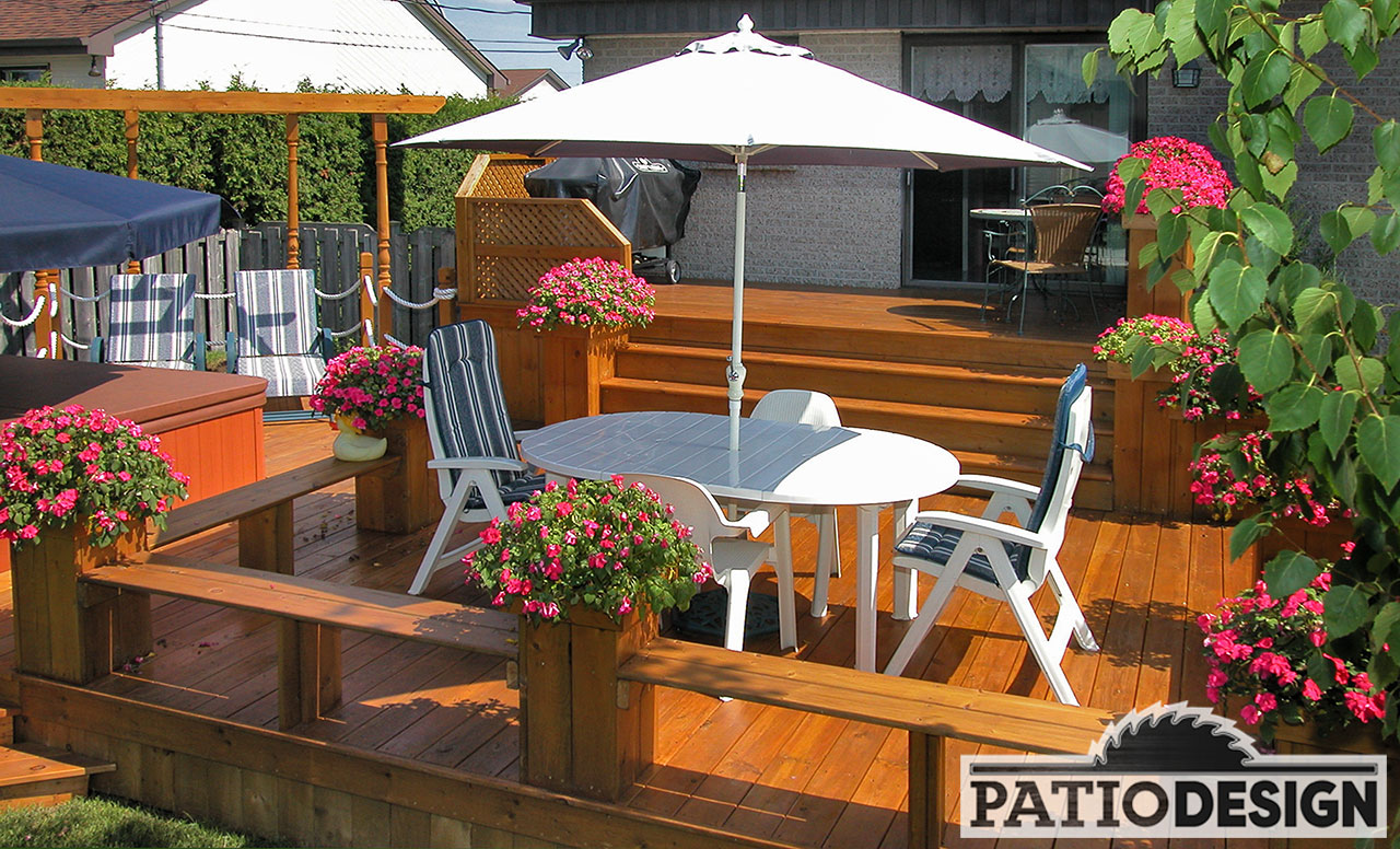 Amenagement Terrasse En Bois Patio Design - Construction & Design De Patios Pour Un Spa