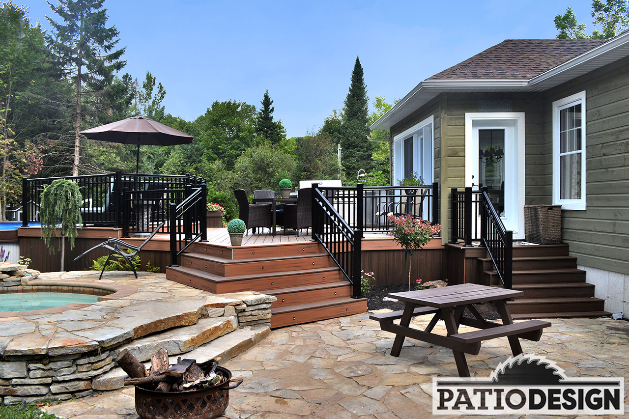 Terrasse Composite Design Patio Design Construction And Design De Patios Et
