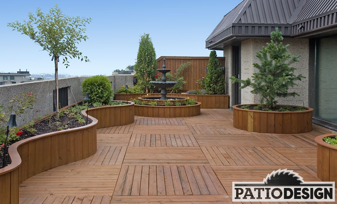 Toit Terrasse Bois Sur Mesure Patio Design Construction And Design De Patios Sur Le Toit