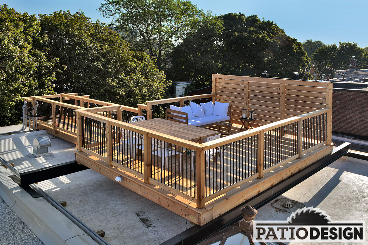 Construction Toit Terrasse Patio Design Construction And Design De Patios Sur Le Toit