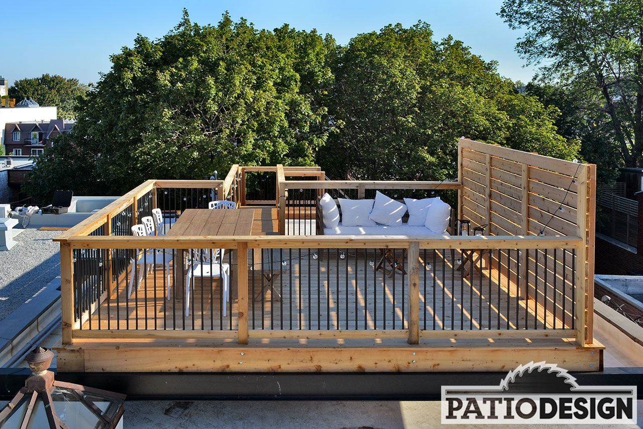 Balcon Terrasse Construction Patio Design Construction And Design De Patios Sur Le Toit